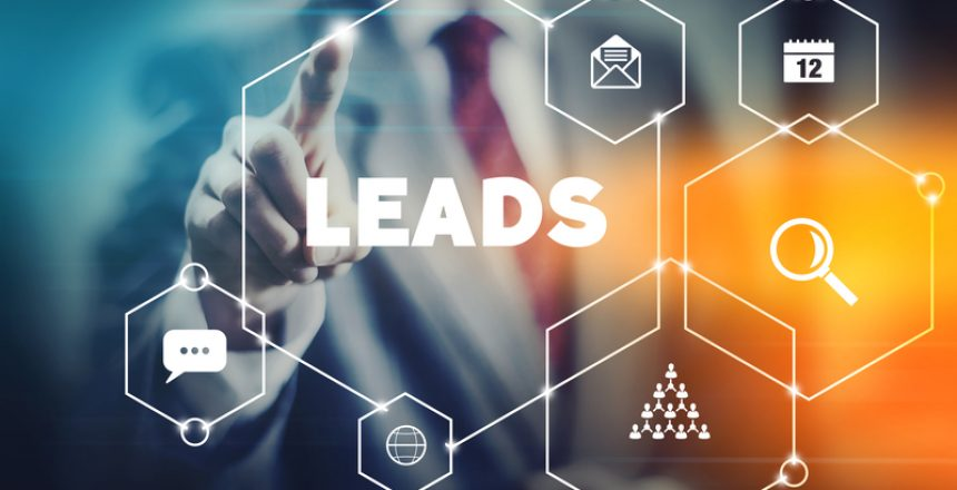 Marketing leads and sales concept.