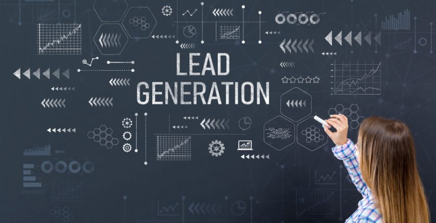Lead generation with young woman