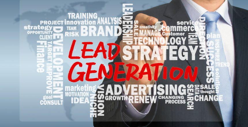 lead generation handwritten by businessman with related words cl