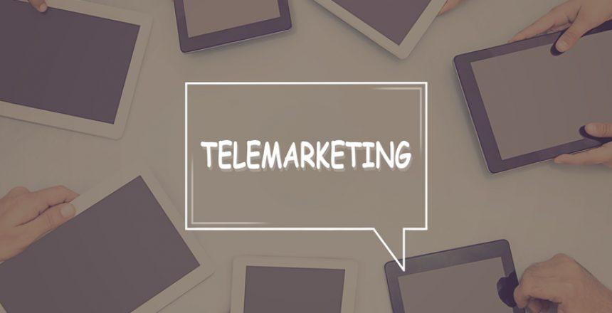 TELEMARKETING CONCEPT Business Concept.